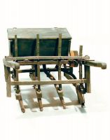 Seminatrice manuale, a carriola.