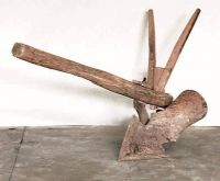 Solcarólo (solcatore) a coppo, senza ruota, in legno.