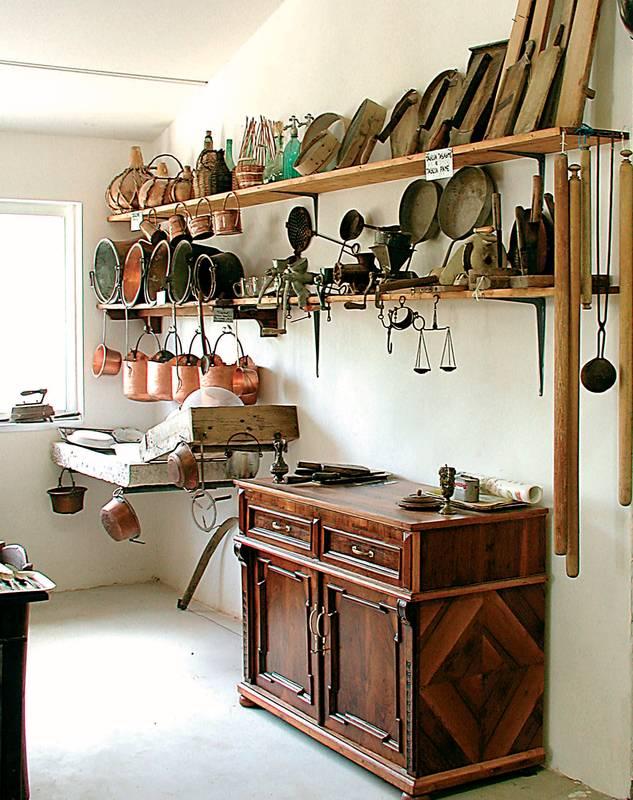 Oggetti in rame per cucina set attrezzi cucina da parete in rame per la casa e restauro - Attrezzi per cucina ...