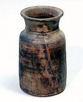 Vaso di legno.