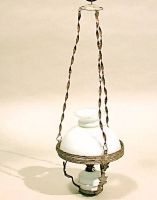 Lampada a petrolio (canfìn) a soffitto