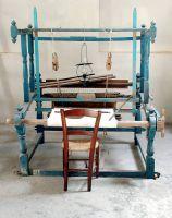 Telaio in legno per la tessitura della lana, della canapa e del lino (fine '800).