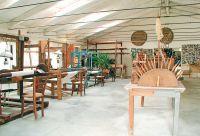 La sala del museo dedicata alla filatura, alla tessitura e all'allevamento del baco da seta.