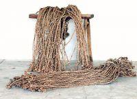 Balzhi o legacci intrecciati con carice o erba palustre