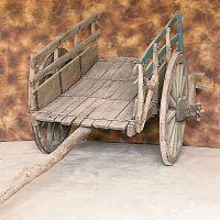 Barèla o carretta di legno a due ruote