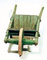 Carriola di fabbricazione artigianale.
